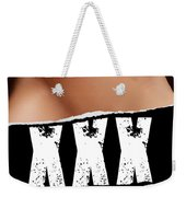 Closeup Of Couple Making Love Xxx Sign Weekender Tote Bag