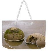 Closeup Of Famous Spherical Moeraki Boulders In Nz Weekender Tote Bag