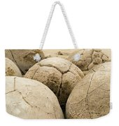 Closeup Of Famous Spherical Moeraki Boulders Nz Weekender Tote Bag