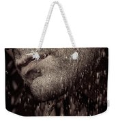 Closeup Of Mans Chin With Stubble Weekender Tote Bag