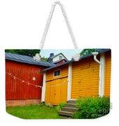 Clothesline In Porvoo In Finland Weekender Tote Bag