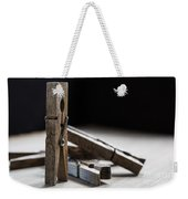 Clothespins Weekender Tote Bag by Edward Fielding