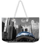 Cloud Gate B-w Chicago Weekender Tote Bag