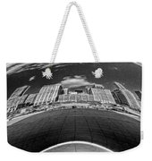 Cloud Gate Under The Bean Black And White Weekender Tote Bag