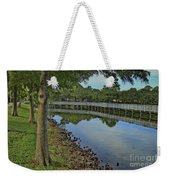 Cloud Reflection At The Pond Weekender Tote Bag