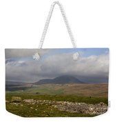 Cloud Streaming Across The Summit Of Pen-y-ghent Ribblesdale North Yorkshire England Weekender Tote Bag