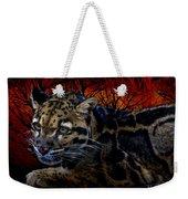 Clouded Leopard Two Weekender Tote Bag
