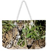 Clouded Leopards Weekender Tote Bag
