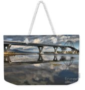 Clouds And Reflections Over Lake Champlain Weekender Tote Bag