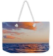 Clouds At Sunset - Racing Across The Water At Sunset Weekender Tote Bag
