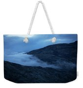 Clouds Cover The Mountains Of The Ice Weekender Tote Bag