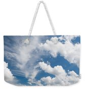 White Cirrus And Cumulus Clouds Formation Mix Weekender Tote Bag