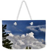 Clouds Like Mountains Behind The Pines Weekender Tote Bag