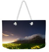 Clouds Loom Over Table Mountain In Cape Weekender Tote Bag