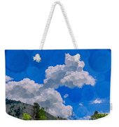 Clouds Loving A Friendly Mountain Landscape Painting Weekender Tote Bag