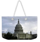 Clouds Of Political Uncertainty Over Capitol Hill Weekender Tote Bag