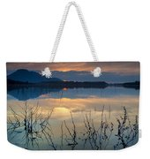 Clouds On The Pink Water Weekender Tote Bag