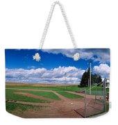 Clouds Over A Baseball Field, Field Weekender Tote Bag