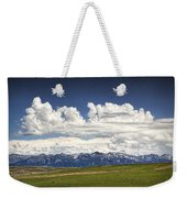 Clouds Over A Mountain Range In Montana Weekender Tote Bag