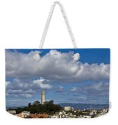 Clouds Over Coit Tower Weekender Tote Bag