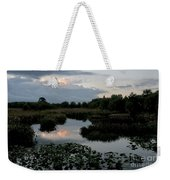Clouds Over Green Cay Wetlands Weekender Tote Bag by Mark Newman