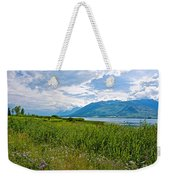 Clouds Over Jackson Lake In Grand Teton National Park-wyoming Weekender Tote Bag