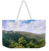 Clouds Over Mountain, Sunset Rock Weekender Tote Bag