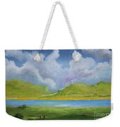 Clouds Over The Lake Weekender Tote Bag
