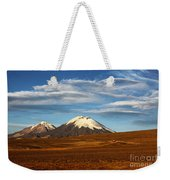 Clouds Over The Payachatas Volcanos  Weekender Tote Bag