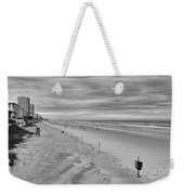 Cloudy Beach Morning Weekender Tote Bag