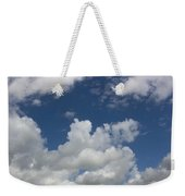 Cloudy Blue Sky Weekender Tote Bag