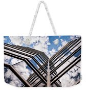Cloudy Building Weekender Tote Bag