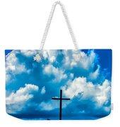 Cloudy Cross Weekender Tote Bag