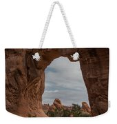 Cloudy Day At Pine Tree Arch Weekender Tote Bag