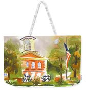 Cloudy Day At The Courthouse Weekender Tote Bag
