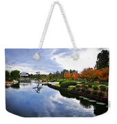 Cloudy Garden Reflections Weekender Tote Bag