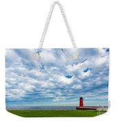Cloudy Milwaukee Harbor Weekender Tote Bag