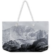 Cloudy Misty Pikes Peak Weekender Tote Bag