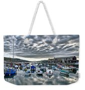 Cloudy Morning - Lyme Regis Harbour Weekender Tote Bag