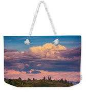 Cloudy Sunset Weekender Tote Bag by Omaste Witkowski