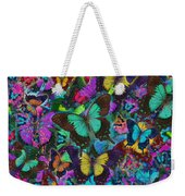 Cloured Butterfly Explosion Weekender Tote Bag