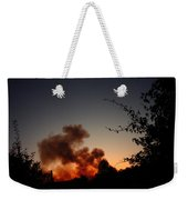 Clover Fire At Night Weekender Tote Bag