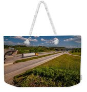 Clover Leaf Exit Ramps On Highway Near City Weekender Tote Bag