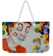 Clown And Duck With Buttons Weekender Tote Bag