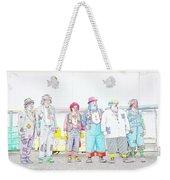 Clown Lineup Weekender Tote Bag