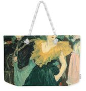 Clowness Cha-u-kao At Moulin Rouge Weekender Tote Bag