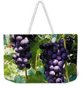 Clusters Of Red Wine Grapes Hanging On The Vine Weekender Tote Bag
