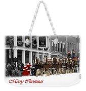 Clydesdale  Team Christmas Card Weekender Tote Bag