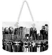 Vancouver Canada Coal Harbour Centre Panel Weekender Tote Bag