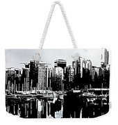 Vancouver  Canada Coal Harbour Triptych Left Panel Weekender Tote Bag
